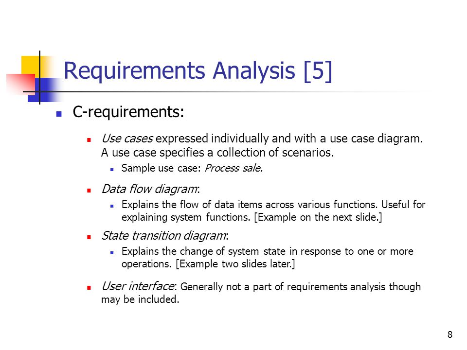 Requirements Analysis [4]